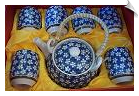 Chinese Tea Set with White Daisies